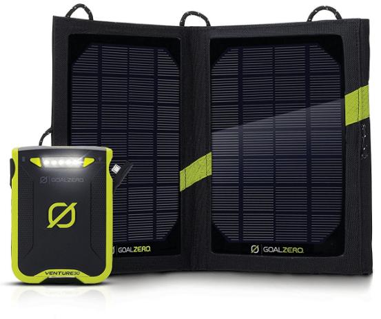 Goal Zero Venture 30 Solar Recharging Kit best camping gear